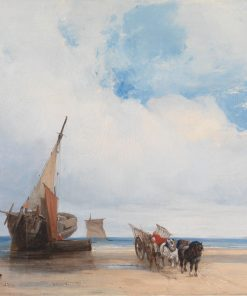 Beached Vessels and a Wagon near Trouville | Richard Parkes Bonington | Oil Painting
