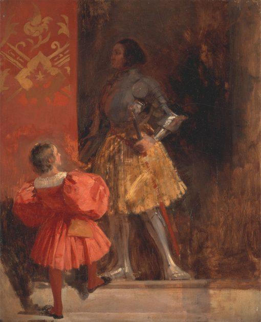 "A Knight and Page (from Johann Wolfgang von Goethe's ""Götz von Berlichingen"" ) | Richard Parkes Bonington | Oil Painting"