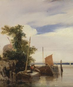 Barges on a River | Richard Parkes Bonington | Oil Painting