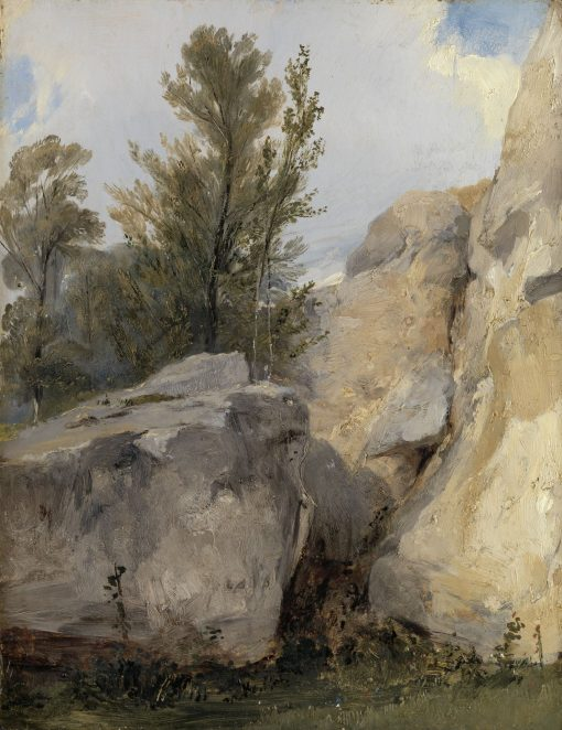 In the Forest at Fontainebleau | Richard Parkes Bonington | Oil Painting
