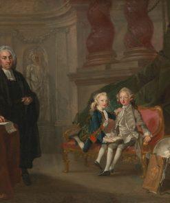 Prince George and Prince Eward Augustus with their Tutor Dr. Francis Ayscough | Richard Wilson