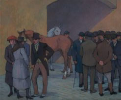 A Morning at Tattersall's | Robert Bevan | Oil Painting