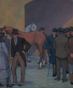 A Morning at Tattersall's   Robert Bevan   Oil Painting