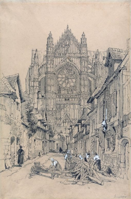 Beauvais Cathedral   Samuel Prout   Oil Painting