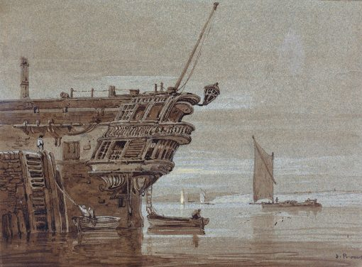 An East Indiaman Moored