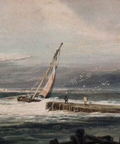 A Stiff Breeze | Samuel Prout | Oil Painting