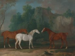Three Hunters in a Rocky Landscape | Sawrey Gilpin | Oil Painting