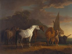 Gulliver Taking His Final Leave of the Land of the Houyhnhnms   Sawrey Gilpin   Oil Painting