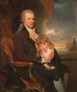 Edward George Lind and his Son Montague | Sir William Beechey | Oil Painting