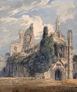 Kirkstall Abbey from the North West (after Edward Dayes)   Thomas Girtin   Oil Painting
