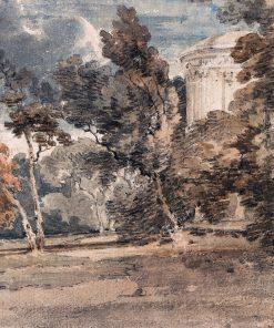 A Temple in Harewood Park   Thomas Girtin   Oil Painting