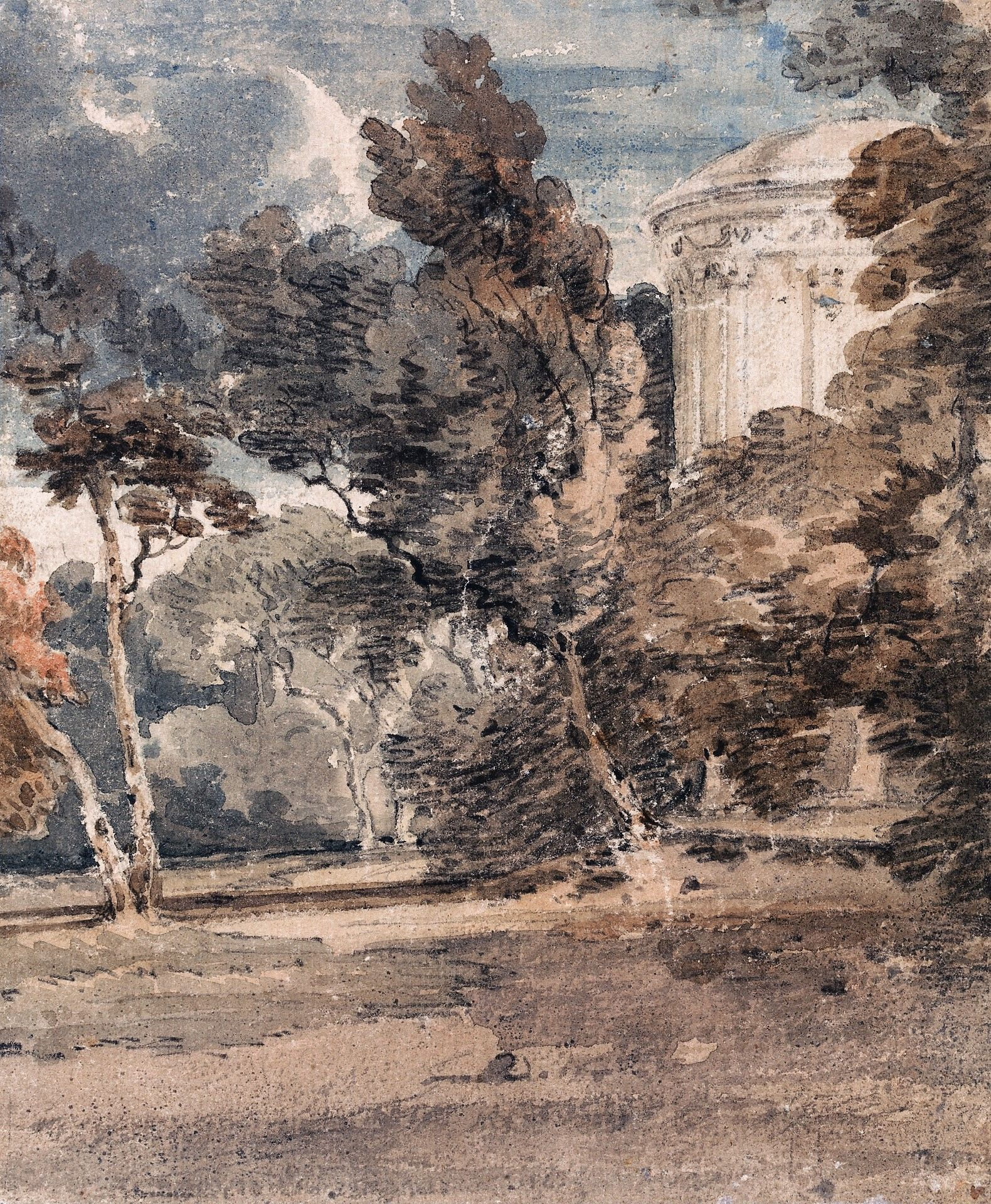 A Temple in Harewood Park | Thomas Girtin | Oil Painting
