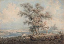 London from Highgate Hill   Thomas Girtin   Oil Painting