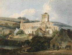 Jedburgh Abbey from the South East   Thomas Girtin   Oil Painting