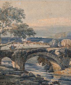 The Old Bridge in Devon | Thomas Girtin | Oil Painting