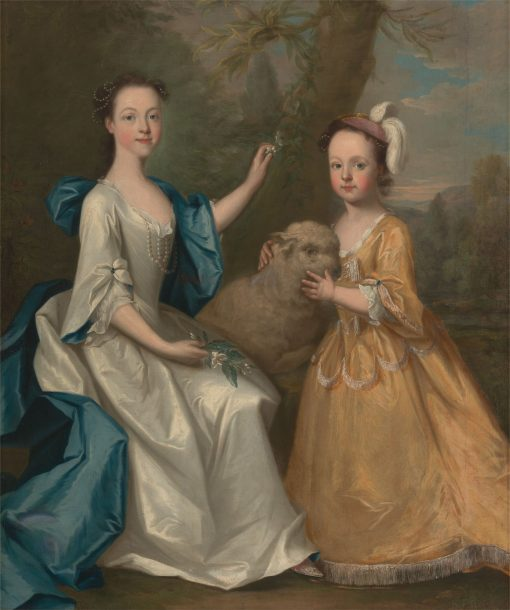 Young Women with a Lamb | Thomas Hudson | Oil Painting