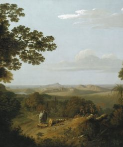 View of the Campi Flegrei from the Camaldolese Convent near Naples | Thomas Jones | Oil Painting