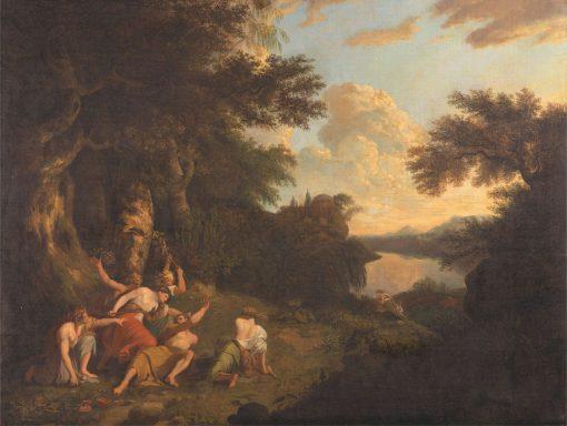 The Death of Orpheus   Thomas Jones   Oil Painting