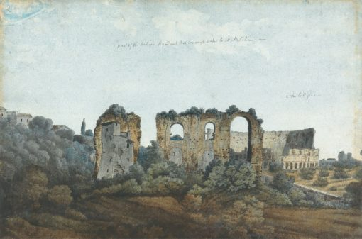 The Claudian Aqueduct and Colosseum | Thomas Jones | Oil Painting