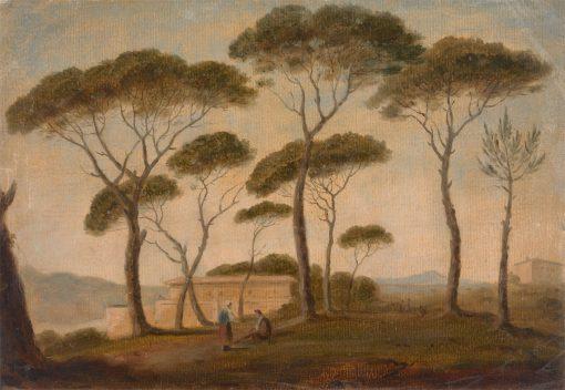 The Garden of the Villa Borghese | Thomas Jones | Oil Painting
