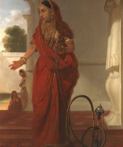 An Indian Dancing Girl with a Hookah | Tilly Kettle | Oil Painting