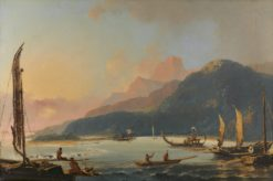 A View of Matavai Bay in the Island of Otaheite [Tahiti] | William Hodges | Oil Painting