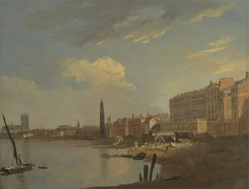 The Thames and the Adelphi   William Hodges   Oil Painting