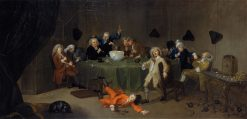 A Midnight Modern Conversation | William Hogarth | Oil Painting