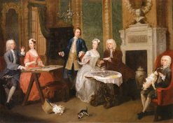 Group of Six at Tea | William Hogarth | Oil Painting