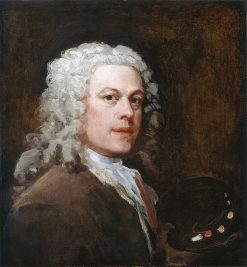 Self Portrait with Palette (unfinished) | William Hogarth | Oil Painting