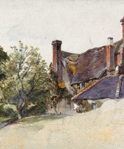 Study of a Cottage by a lane | William James Muller | Oil Painting