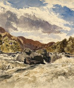A Mountain Torrent   William James Muller   Oil Painting