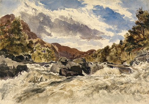 A Mountain Torrent | William James Muller | Oil Painting