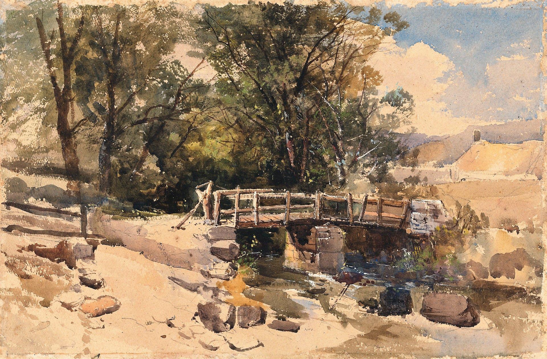 The Bridge | William James Muller | Oil Painting