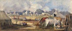 An Eastern Encampment | William James Muller | Oil Painting