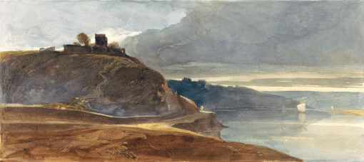 A Castle Above an Estuary | William James Muller | Oil Painting