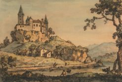 Castle Overlooking a River | William Marlow | Oil Painting