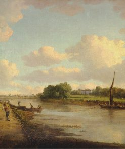 View on the River Thames at Richmond | William Marlow | Oil Painting