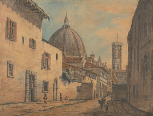 A Street in Florence with the Duomo and Campanile in the Background | William Marlow | Oil Painting