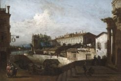 The Lock at Dolo | Bernardo Bellotto | Oil Painting