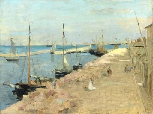 The Harbour at Cherbourg | Berthe Morisot | Oil Painting