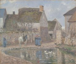 A Pond in Ennery | Camille Pissarro | Oil Painting