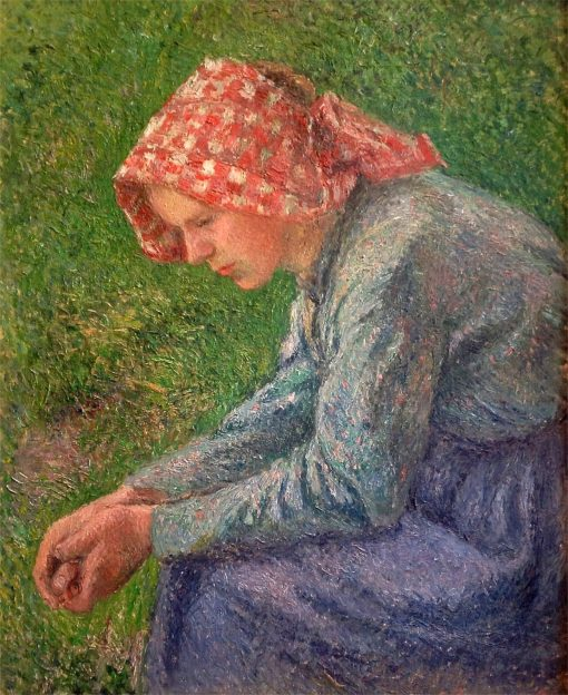 A Seated Peasant Woman | Camille Pissarro | Oil Painting