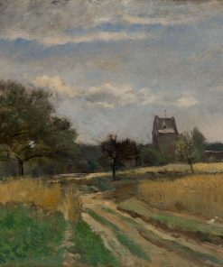 Landscape along a Country Road | Charles Francois Daubigny | Oil Painting