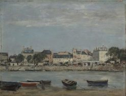 The Port of Trouville | Eugene Louis Boudin | Oil Painting