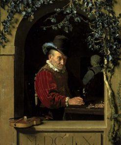 The Old Violinist | Frans van Mieris the Elder | Oil Painting