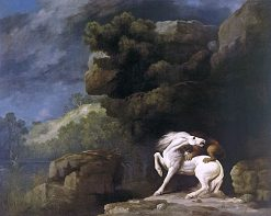 A Lion attacking a Horse | George Stubbs | Oil Painting