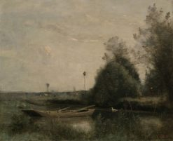 A Pond in Mortain | Jean Baptiste Camille Corot | Oil Painting