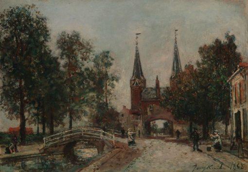 Scene at Delft   Johan Barthold Jongkind   Oil Painting