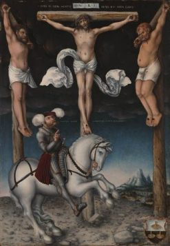Crucifixion with the Converted Centurion | Lucas Cranach the Elder | Oil Painting